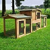 Zooprimus Kaninchenstall 1 XXL PL Hasenkäfig - Sheriff - Stall für Außenbereich (für Kleintiere: Hasen, Kaninchen, Meerschweinchen usw.)