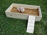 Elmato 12113 Mega Buddelkiste Buddelbox Sandbad für Kaninchen Hasen XXL, 95x52x11cm